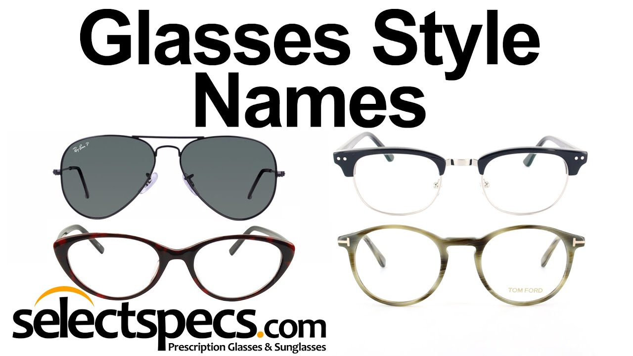 What are the Names of the Different Eyewear Glasses Styles? - with  SelectSpecs.com - YouTube