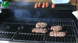 Gourmet Burgers on the Char Broil Tru  nfra Red Grill with Matt Jimbo Jitsu Grate