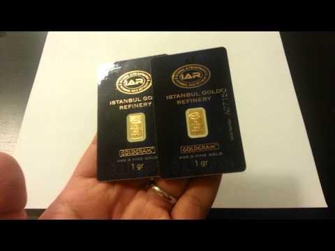 24k Istanbul 999.9 Fine Gold Bullion Bars 2 Grams