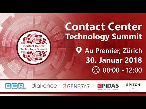 Contact Center Technology Summit  Zürich 2018