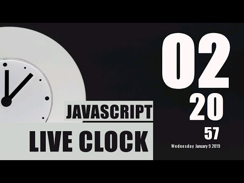 Live Running Clock using HTML and JavaScript || Countdown Clock in javascript thumbnail