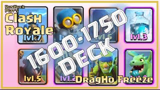 clash royale deck breakdown arena 6 1800 max baby hog rider with freeze on defense