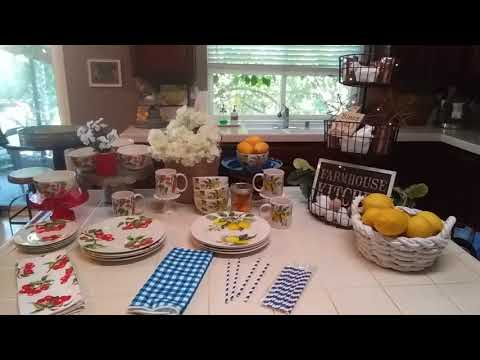 Farmhouse Dollar Tree Haul - Lemon and Cherry Dishware!