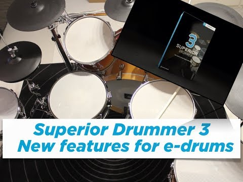 Superior Drummer 3 - New e-drum features explained (multi-zone snares & ride)