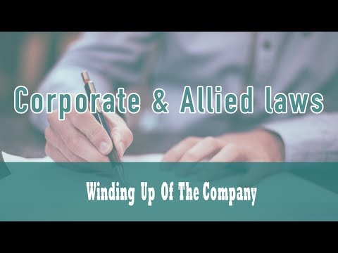 Winding Up Class-21   (Part-7)  Winding Up Of The Company   Companies Act 1956
