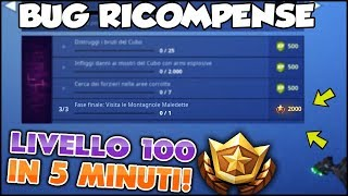 THIS BUG WILL GET YOU TO LEVEL 100 IN 5 MINUTES! FORTNITE ITA