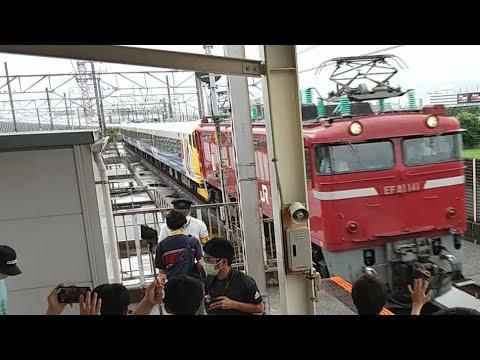 【豊田常駐編成もついに5500番台化】E257系500番台NB-10編成赤塗装編成南船橋通過