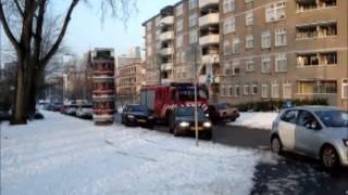 22/01/13 Spoedrit Brandweer TS23-1 (TS44-1 AL44-1) Voornsestraat Rotterdam Gebouwbrand