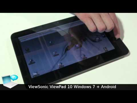 ViewSonic ViewPad 10 tablet with dual boot Windows 7 - Android