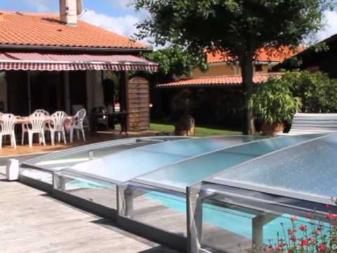 abri de piscine telescopique azenco youtube