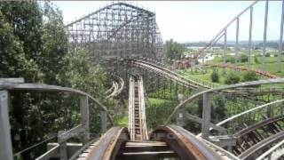 Timber Wolf Front Seat on-ride HD POV Worlds of Fun