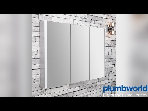 Vasari Turin Mirrored Bathroom Cabinet 900mm - Plumbworld
