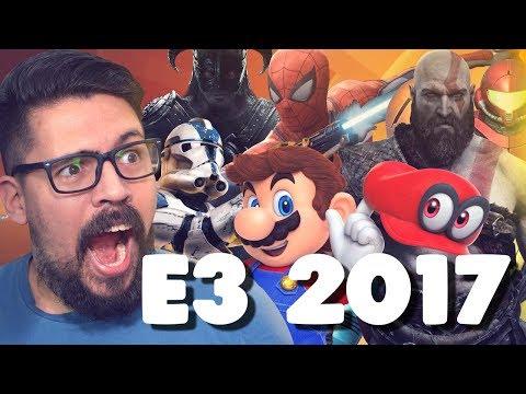 🔥TUDO QUE ROLOU NA E3 2017!🎮
