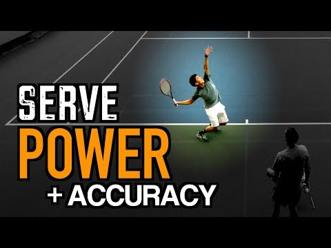 FLAT SERVE Tennis Lesson: Technique for POWER + ACCURACY