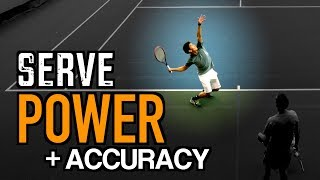 FLAT SERVE Tennis Lesson: Technique for POWER + ACCURACY