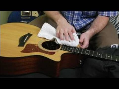 How to Change the Strings on an Acoustic Guitar : Clean Your Guitar Before Re-Stringing