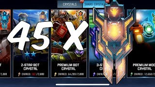 45x Premium Bot Crystal Opening! - Transformers: Forged To Fight