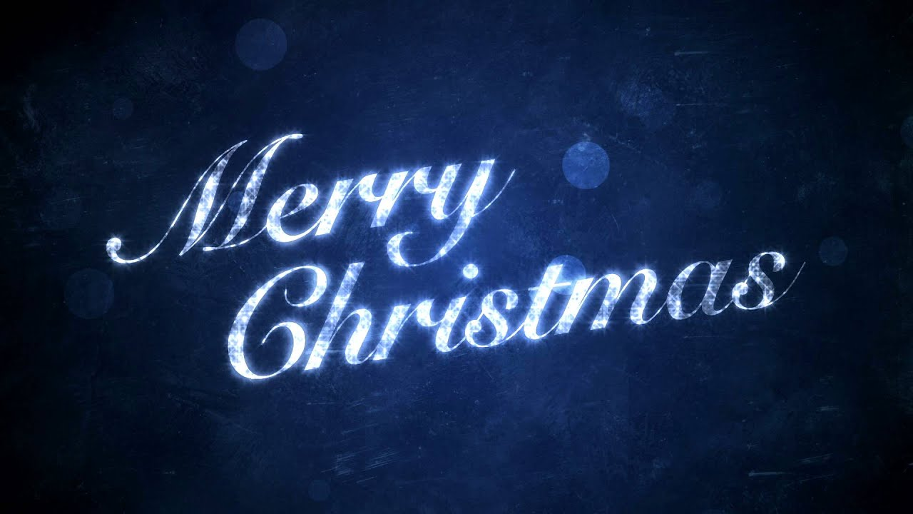 Merry Christmas on Blue - HD Background Loop - YouTube