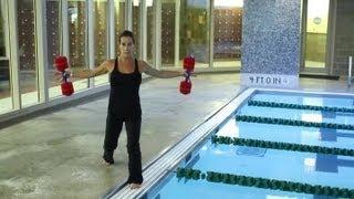 Proper Way of Using Aquatic Water Dumbbells : Fitness Techniques