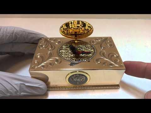 Reuge erotic case singing bird box automaton
