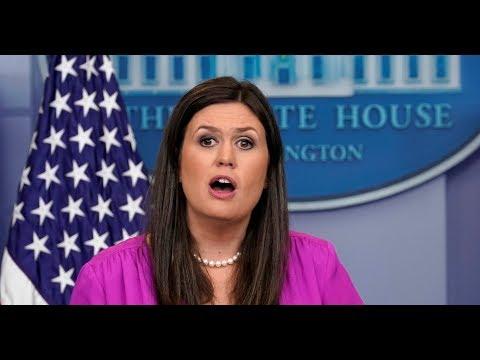 WATCH: Press Secretary Sarah Huckabee Sanders White House Press Briefing on North Korea, NFL
