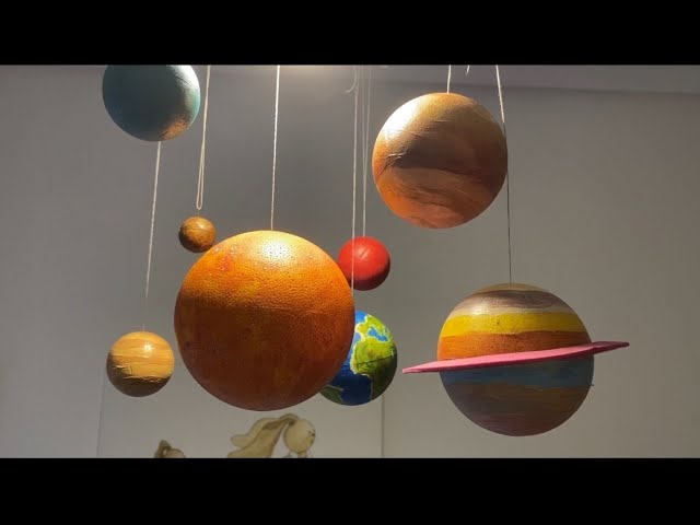 Como Hacer Un Móvil Del Sistema Solar Youtube