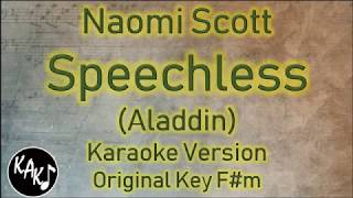 [3.43 MB] Naomi Scott - Speechless Karaoke Lyrics Instrumental Cover Original Key F#m