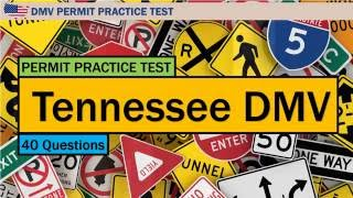 US driving written test: Tennessee DMV Permit Practice Test