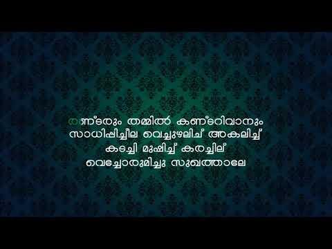 Aake Chuttulakathil Karaoke Malayalam with lyrics