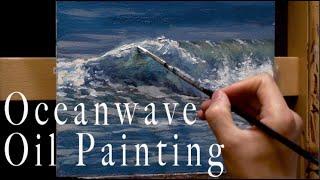 유화로 파도 그리기 Ocean wave oil painting tutorial