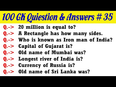 100 Easy GK Question and Answers for Indian Exams   India GK Questions   Kids Gk Questions   Part-35