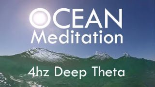 Oceanscape Meditation - Binaural Beats 4hz - Theta Brain Waves