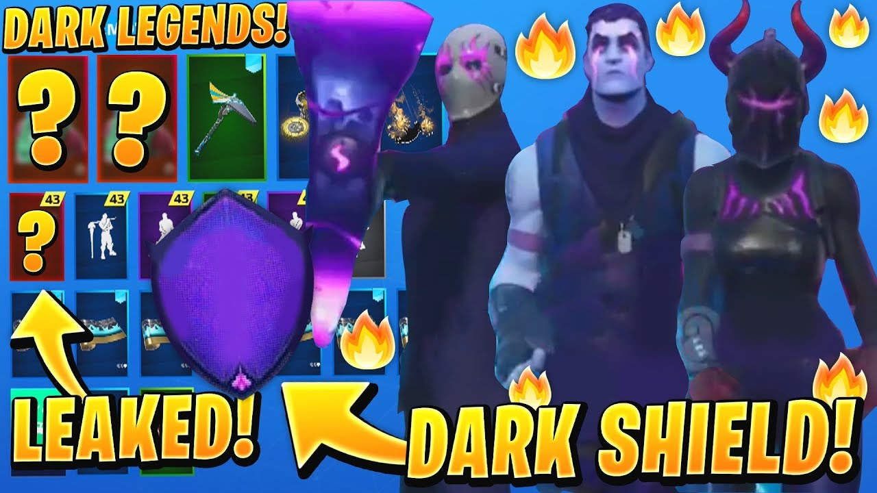 New Leaked Dark Legends Fortnite Bundle Skins Dark Red Knight Dark Shield Axe Jonesy