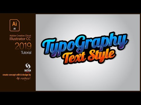 Typography Text Style in Illustrator CC | Sketch Station thumbnail