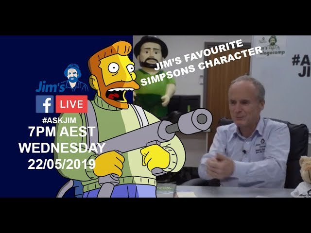 #JIMS Hank Scorpio and Jim? #ASKJIM excerpt from FB Live | www.jims.net | 131 546