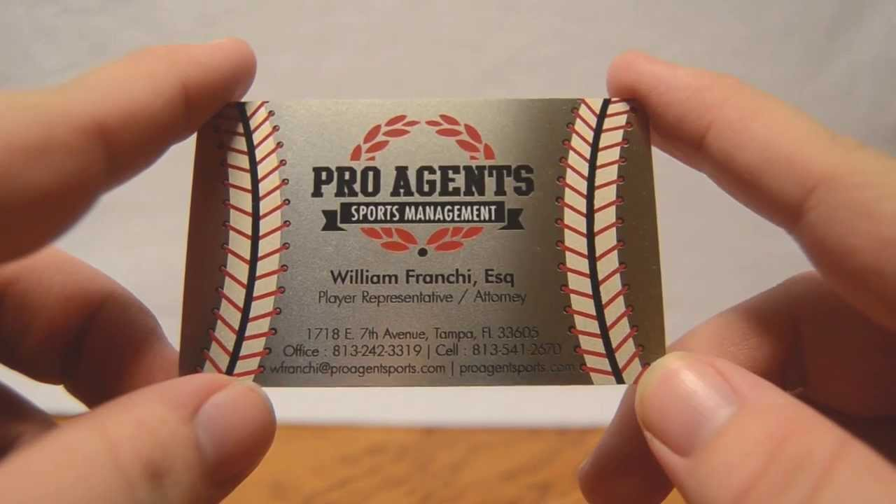 Sports Management Metal Business Cards - YouTube