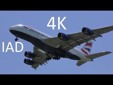 Washington Dulles (IAD) 4K Widebody Planespotting in the Sunshine, Part 1: Arrivals