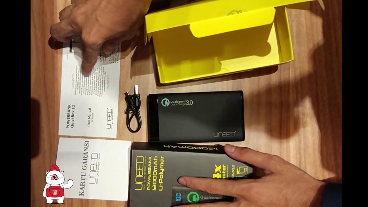 Unboxing Vivan Vpb M20 Quick Charge 3 0 Uneed Powerbank 12000mah Qualcomm 30 Quickbox 12 Black
