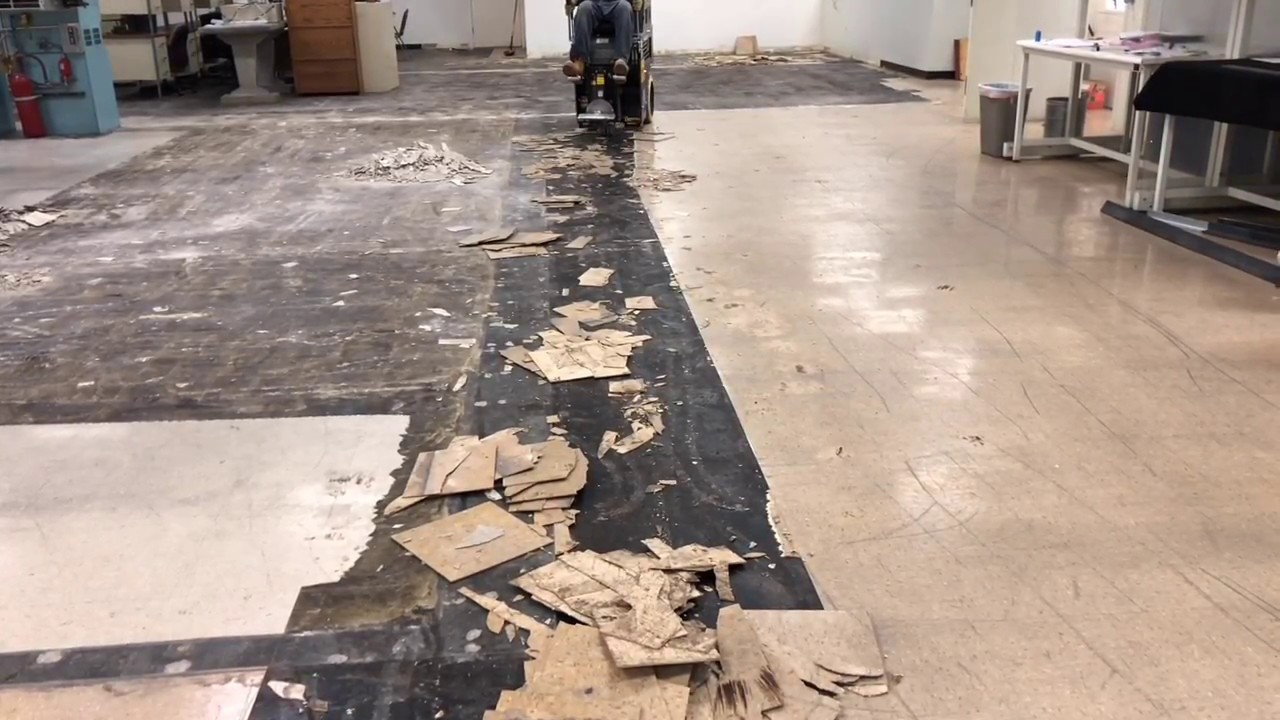 Vct Tile Floor Demolition Removal Tucson Arizona Floor Care