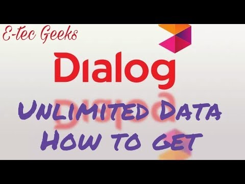 Dialog unlimited data how to get