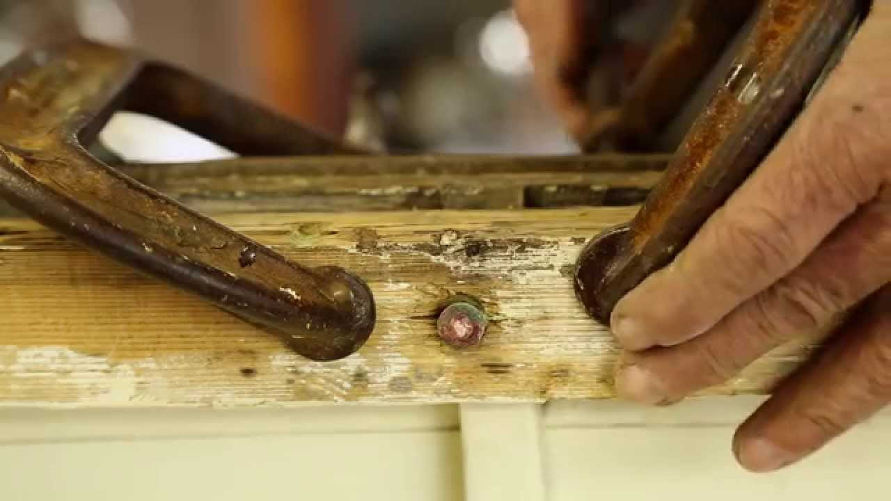 How to tighten rivets on the wooden boat REMORA (1928) Herreshoff 12 ...