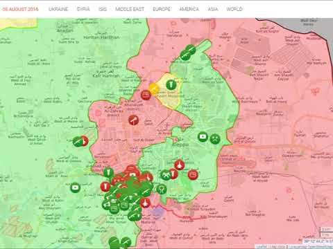 Battle of Aleppo - Map Timelapse