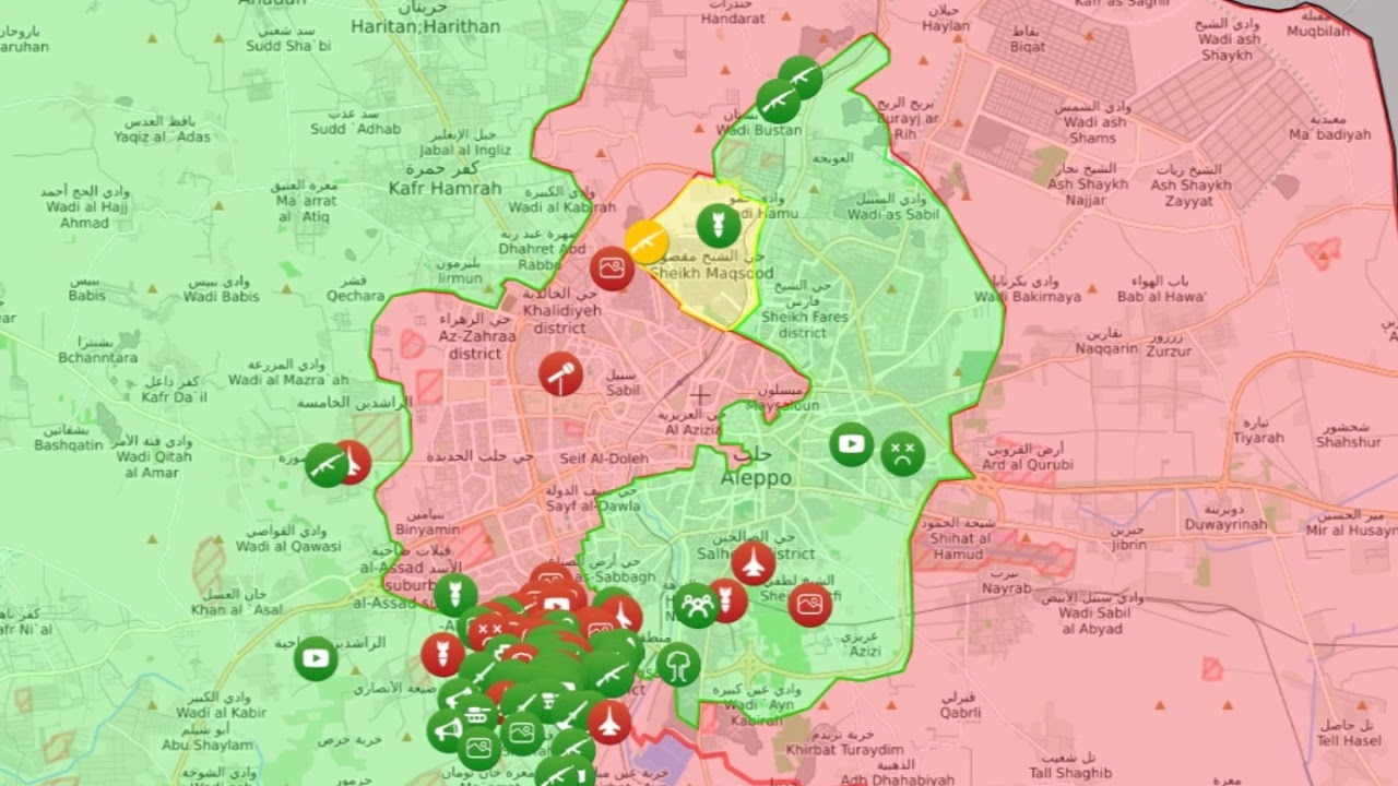 Battle of Aleppo - Map Timelapse on athens map, mosul map, bursa map, syria map, middle east map, isfahan map, tel aviv map, beirut map, latakia map, benghazi map, antioch map, jerusalem map, medina map, amman map, ankara map, sinai peninsula map, basra map, jericho map, tyre map, catal huyuk map,