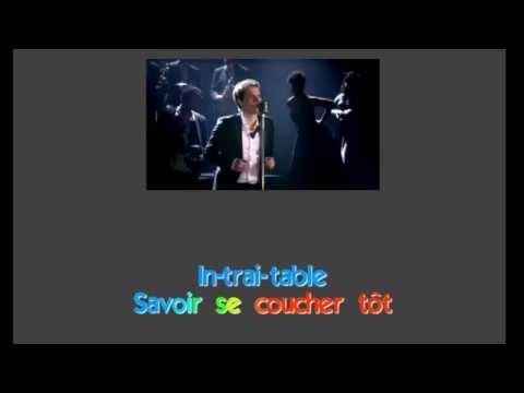 Benabar - Paris by Night -  Karaoke (Lyrics) - Instrumental - HD