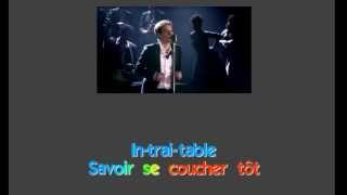 Benabar - Paris by Night -  Karaoke (Lyrics) - Instrumental - HD