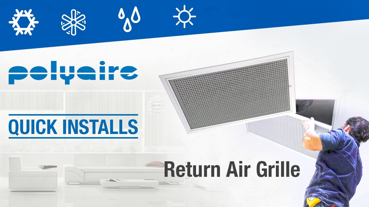Quick Install Of Return Air Grille Youtube