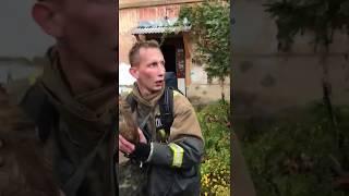 Костромські пожежні реанімують собаку