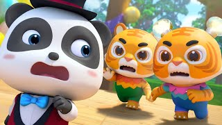Panda Magician and Two Tigers | Learn Animals for Kids | Nursery Rhymes | Kids Songs | BabyBus