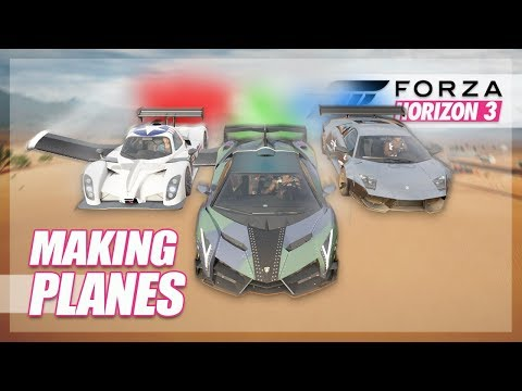 Forza Horizon 3 - Planes in Forza! (Build & Flying)