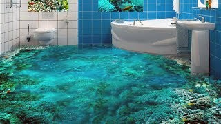 Unique 3D Bathroom Floor Designs That Will Blow Your Mind